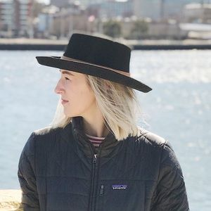 07f45e5b26b10 gigi pip · GigiPip women's black Ginger Gambler hat ...